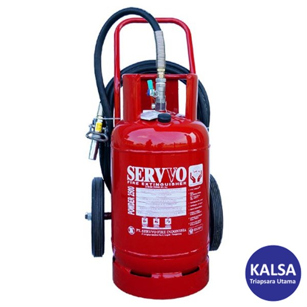 Servvo P 2500 ABC 90 Trolley ABC Dry Chemical Powder Fire Extinguisher