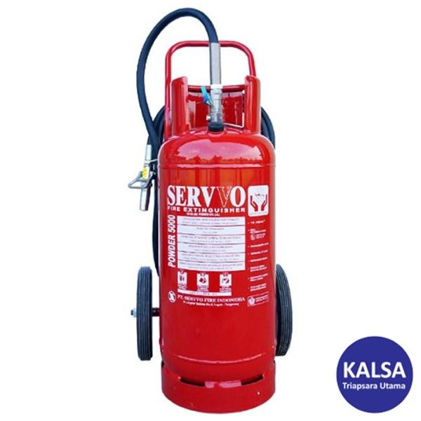 Servvo P 5000 ABC 90 Trolley ABC Dry Chemical Powder Fire Extinguisher