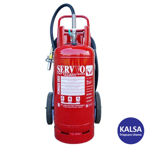 Servvo P 6800 ABC 90 Trolley ABC Dry Chemical Powder Fire Extinguisher
