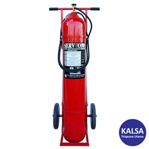 Dari Servvo C 4500 CO2 BC Trolley Carbon Dioxide O2 Fire Extinguisher 0