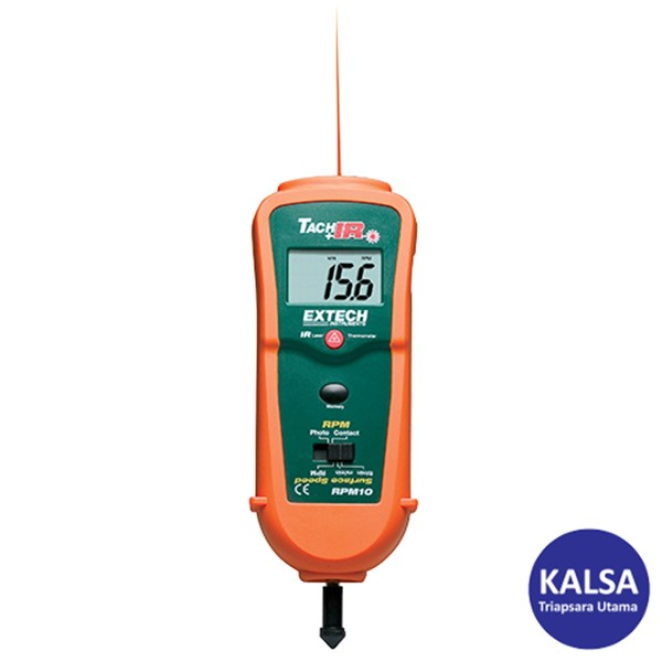 Extech RPM10 Combination Laser Tachometer + IR Thermometer