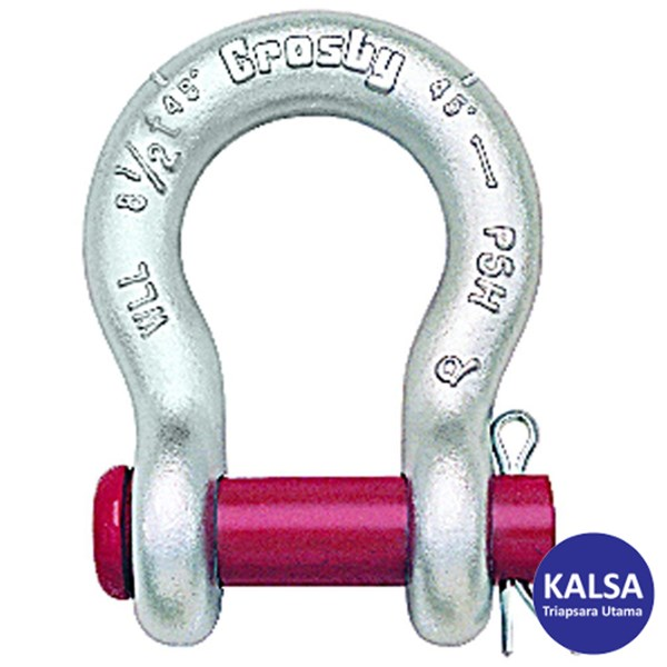 "Crosby G-213 1018151 Size 7/8"" Round Pin Anchor Shackle"