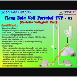 Tiang Bola Voli Portable TVP-01