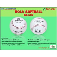 Jual Bola Softball Top Spin White BS-100