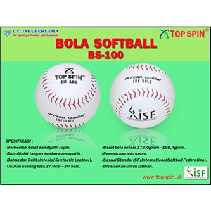 Bola Softball Top Spin White BS-100
