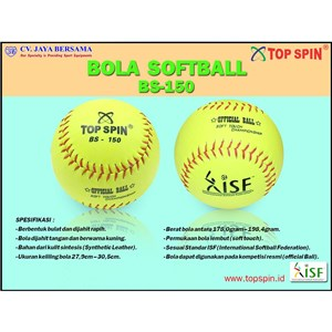 Bola Softball Top Spin Yellow BS-150