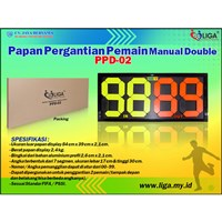 Papan Pergantian Pemain Manual PPD-02