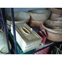 Jual Kotak Tisu Mobil Kerajinan Bambu
