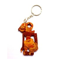 Gantungan Kunci Kayu Batik