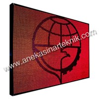 Jual Running Text LED Display Signboard Single Color