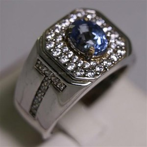 Cincin Permata Natural Blue Safir 2.66 ct Oval  Modified Brilliant Biru Sri Lanka Heated