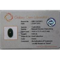 Jual Cincin Permata Natural Chrome Chalcedony 9.00 ct Oval Cabochon Hijau No Treatment 2