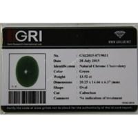 Jual Cincin Permata Natural Chrome Chalcedony 13.52  ct Oval Cabochon Hijau No Treatment 2