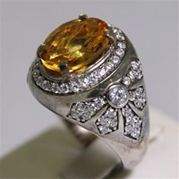 Distributor Cincin Permata Natural Citrine 3.43 ct Oval Mixed Brilliant Kuning No Treatment 3