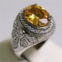 Beli Cincin Permata Natural Citrine 3.43 ct Oval Mixed Brilliant Kuning No Treatment 4
