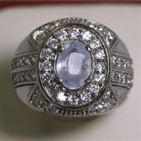 Beli Cincin Permata Natural Colorless Safir 1.81 ct Oval Modified Brilliant Tidak Berwarna No Treatment 4