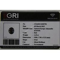 Jual Cincin Permata Natural Garnet 5.20 ct Oval Checkerboard Merah No Treatment 2