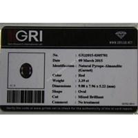 Jual Cincin Permata Natural Garnet 3.39 ct Oval Mixed Brilliant Merah No Treatment 2