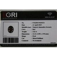 Jual Cincin Permata Natural Garnet 3.63 ct Oval Mixed Brilliant Merah No Treatment 2