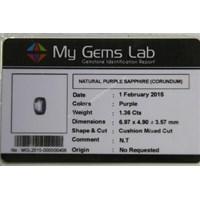 Distributor Cincin Permata Natural Purple Safir 1.36 ct Persegi Panjang Mixed Brilliant Ungu No Treatment 3