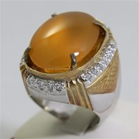 Jual Cincin Permata Natural Raflesia 119.16 ct (dengan ring) Oval Cabochon Orange Kekuningan No Treatment 2