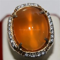 Beli Cincin Permata Natural Raflesia 119.16 ct (dengan ring) Oval Cabochon Orange Kekuningan No Treatment 4
