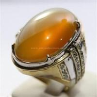 Distributor Cincin Permata Natural Raflesia 120.70 ct (dengan ring) Oval Cabochon Orange Kekuningan No Treatment 3