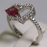 Distributor Cincin Permata Natural Ruby 1.05 ct Oval Brilliat Merah Pink Heated (C) 3