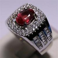 Distributor Cincin Permata Natural Ruby 2.88 ct Oval Brilliat Merah Heated (C) 3