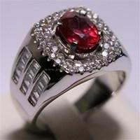 Beli Cincin Permata Natural Ruby 2.88 ct Oval Brilliat Merah Heated (C) 4