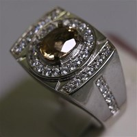 Distributor Cincin Permata Natural Sherry Topaz 1.41 ct Oval Mixed Brilliat Coklat No Treatment 3