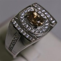 Beli Cincin Permata Natural Sherry Topaz 1.41 ct Oval Mixed Brilliat Coklat No Treatment 4