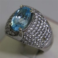 Distributor Cincin Permata Natural Blue Topaz 3.98 ct Oval Mixed Brilliant Biru No Treatment 3