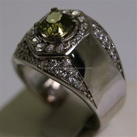 Distributor Cincin Permata Natural Yellow Safir 1.86 ct Persegi Brilliat Kuning Keabuan Madagascar No Treatment 3