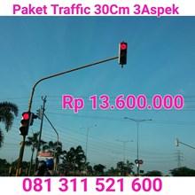 Paket Traffic Light 1 Simpang 30cm Tanpa Timer