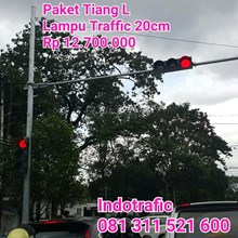 Traffic Light 20cm Plus Tiang L