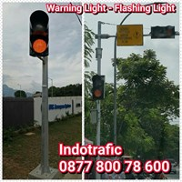Lampu LED Warning Light Tiang Lurus dan Tiang L
