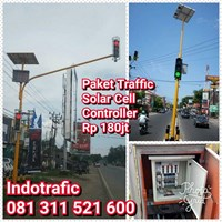Lampu LED Paket Traffic Light Solar Cell
