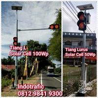 Lampu LED Warning Light Solar Cell 100WP