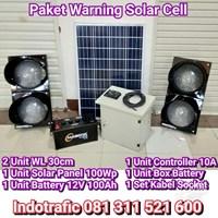 Lampu LED Paket 2 Warning Light Solar Cell 100WP