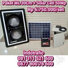 Lampu LED Flashing Light  30cm Solar Cell