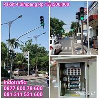 Lampu Jalan PJU  Paket Traffic Light 4 Simpang