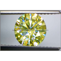 Jual Sparkling Yellow Canary Diamond Moissanite Coated ( DM 034)