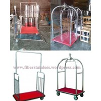 Trolley Stainless - Trolley Makanan Stainless - Trolley Hotel Stainless - Bellman Trolley - Roomboy Trolley - Luggage Trolley Stainless - Trolley Susun Stainless - Linen Trolley - Food Trolley Stainless