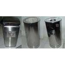 Checkered Stainless Trash Can Trash Can Stainless-Standing Ashtray Friday-The Trash Can Garbage Stainless Round-Stainless Pendants-Trash-Standing Ashtray Friday Jakarta Stainless Stainless