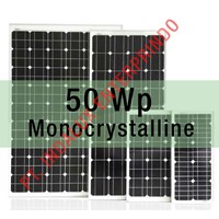 Jual Panel Surya 50 Wp Type Monocrystalline