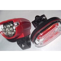 LAMPU SEPEDA BIKE WARNING LIGHT 2 IN 1