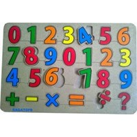 Puzzle Angka Simbol Sablon
