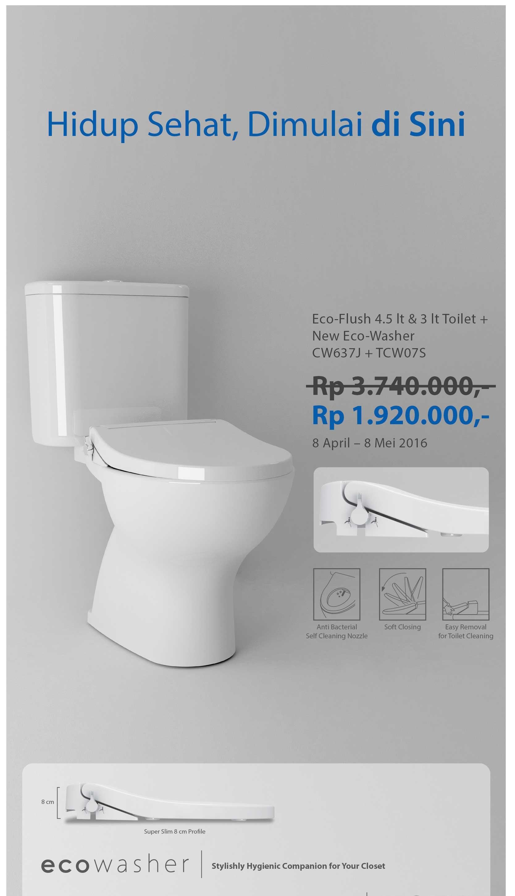 Sell Toto Cw637 Promo Price 1.920.000 Only This Month from Indonesia ...