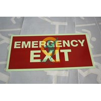 Safety Sign & Rambu K3 - Exit Emergency Dan Kondisi Darurat - Glow In The Dark - Standar ISO  Murah 5
